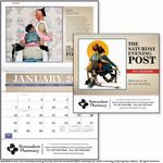 Custom Triumph The Saturday Evening Post w/ Illustrations by Norman Rockwell Pocket Calendar