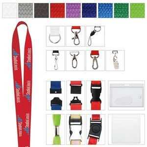 "1"" Universal Source™ Polyester Woven Lanyard"