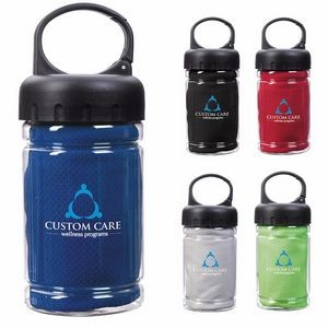 Good Value® Carabiner Bottle w/Cooling Towel