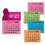 Custom Triumph Full-Color Stick Up Colored Paper 2-Color Grid Calendar