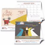 Custom Triumph Contemporary Quotes Large Desk Calendar