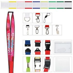 "3/4"" Universal Source™ Polyester Lanyard w/Ribbon"