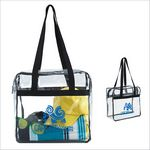 Custom GoodValue Clear Zippered Tote Bag