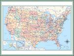 Custom Triumph Jumbo Hanger 12-Month Calendar w/ USA Map Photo