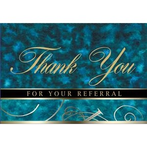 "Blue Thank You For Your Referral Everyday Blank Note Card (3 1/2""x5"")"