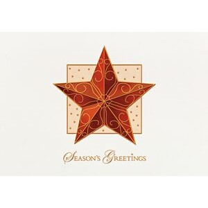 "Raised Relief Ornamental Star Holiday Greeting Card (5""x7"")"