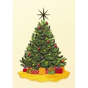 "Christmas Tree Holiday Greeting Card (5""x7"")"