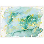 Custom Watercolor Peace & Joy Holiday Greeting Card (5