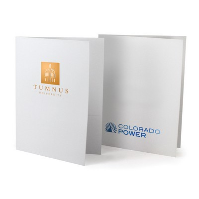 Foil-Stamped Pocket Folder-Standard White Paper
