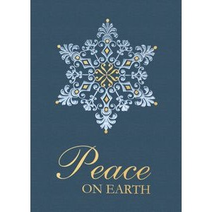"Filagree Snowflake Holiday Greeting Card (5""x7"")"