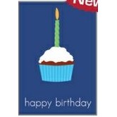 "Happy Birthday Cupcake Everyday Blank Note Card (3 1/2""x5"")"