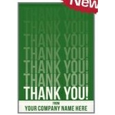 "Green Thank You Everyday Blank Note Card (3 1/2""x5"")"