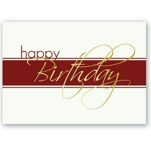 "White & Red Happy Birthday Everyday Greeting Card (5""x7"")"