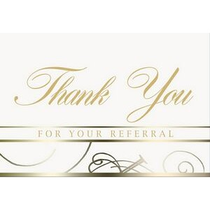 "White Thank You For Your Referral Everyday Blank Note Card (3 1/2""x5"")"