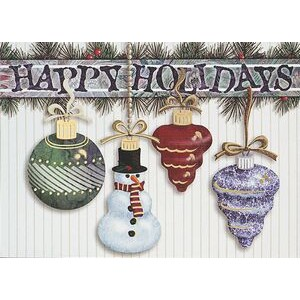 "Hanging Ornaments Holiday Greeting Card - Classic (5""x7"")"