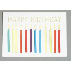 "Happy Birthday Candles Everyday Greeting Card (5""x7"")"