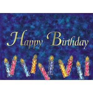 "Blue Happy Birthday Candles Everyday Greeting Card (5""x7"")"