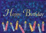 Custom Blue Happy Birthday Candles Everyday Greeting Card (5