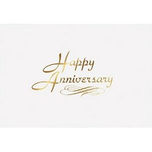 "Happy Anniversary Everyday Blank Note Card (3 1/2""x5"")"