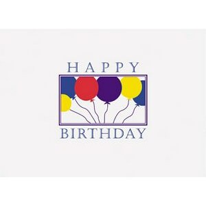 "Happy Birthday Balloons Everyday Blank Note Card (3 1/2""x5"")"