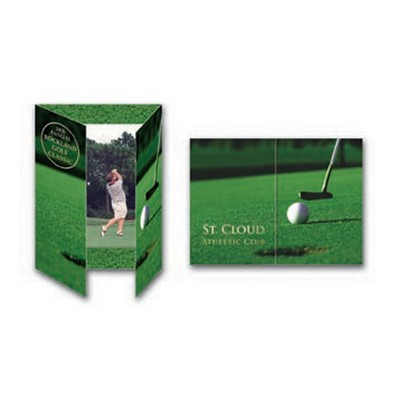 "Blank Vertical Golf Gatefold Event Folder (4""x6"")"
