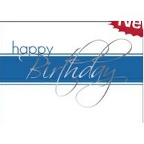 "White & Blue Happy Birthday Everyday Greeting Card (5""x7"")"
