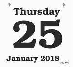 Custom Daily Date Calendar Refill - 6x5.5 Large Pad