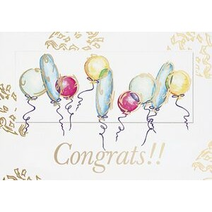 "Congrats Balloons Everyday Greeting Card (5""x7"")"
