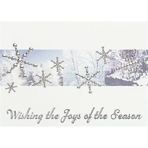 "Silver Snowflakes in Forest Holiday Greeting Card - Classic (5""x7"")"