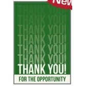"Thank You For The Opportunity Everyday Blank Note Card (3 1/2""x5"")"