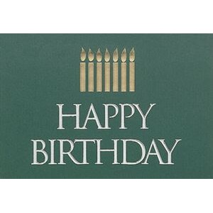 "Happy Birthday Candles Everyday Blank Note Card (3 1/2""x5"")"