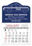 Custom Taxi Standard Pad Value Stick Calendar