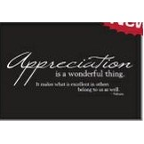 "Appreciation Is A Wonderful Thing Everyday Blank Note Card (3 1/2""x5"")"