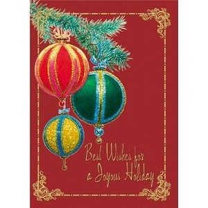 "Victorian Ornaments Holiday Greeting Card (5""x7"")"