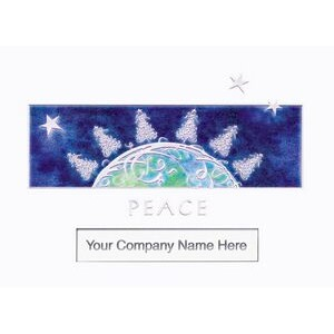 "World Peace Window Holiday Greeting Card (5""x7"")"