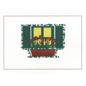 "Window Box Everyday Blank Note Card (3 1/2""x5"")"