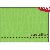"Green Happy Birthday Everyday Greeting Card (5""x7"")"