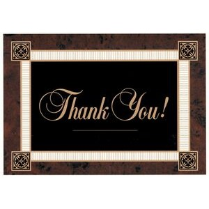 "Brown Border Thank You Everyday Blank Note Card (3 1/2""x5"")"