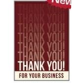 "Red Thank You For Your Business Everyday Blank Note Card (3 1/2""x5"")"