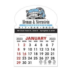 Stick It Decal 1 Month Calendar Pads - Oval w/ Bottom Strip