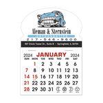 Custom Stick It Calendar Pads - Oval w/ Bottom Strip Decal
