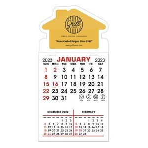 Stick It Magnet 3 Month Calendar Pads - House