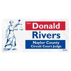 Clear Polyester Rectangle Bumper Sticker Blue Recycle Sticker Roosevelt