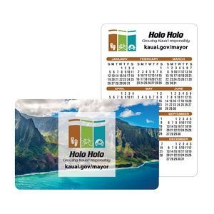 "Offset Full Color Plastic Calendar Card w/ Open Blocks (0.015"" Thick)"