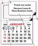 Custom Add Your Card Magnet Calendar Pads
