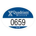 Custom Oval Vinyl Outside Parking Permit Decal (2