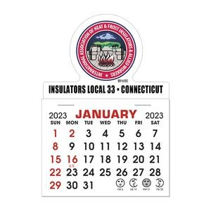 Stick It Magnet 1 Month Calendar Pads - Round w/ Bottom Strip