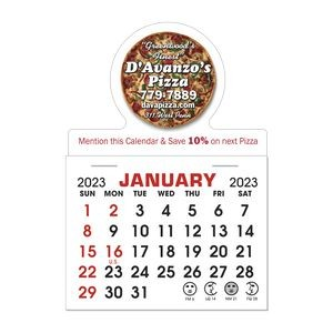 Stick It Decal 1 Month Calendar Pads - Round w/ Bottom Strip