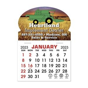 Stick It Magnet 1 Month Calendar Pads - Oval w/ Bottom Strip