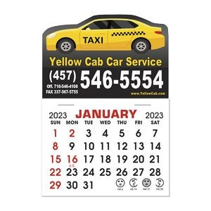 Stick It Magnet 1 Month Calendar Pads - Car